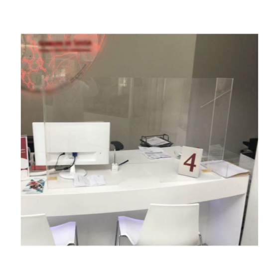 Acrylic Protection For Counter Service