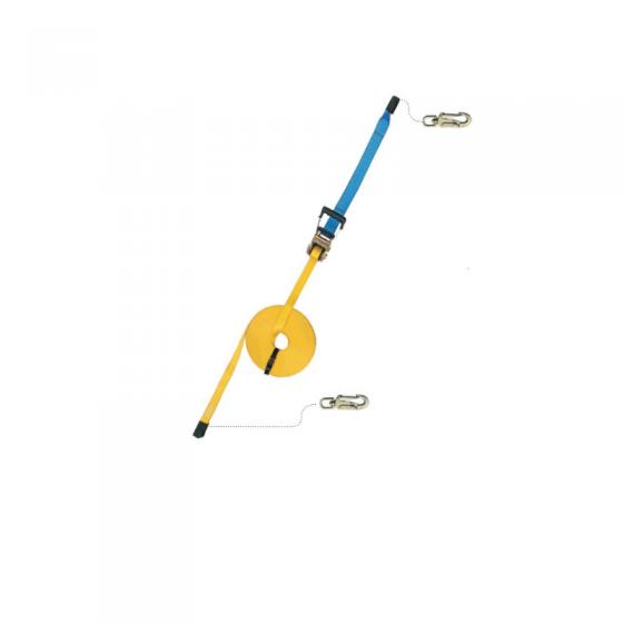 Corda Linha Vida Horizontal Ae320-10M C/ 2 Mosquetões Az060 E Saco Ax050