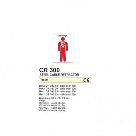 Retractable Fall Arrester Cr 300 - Az 051T