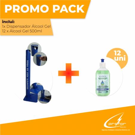 Gel Dispenser + Alcohol Gel 500ml (12 units)