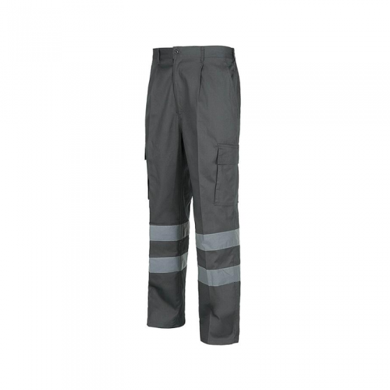Regular Pants with Reflective Strips and 2 Side Pockets on Legs