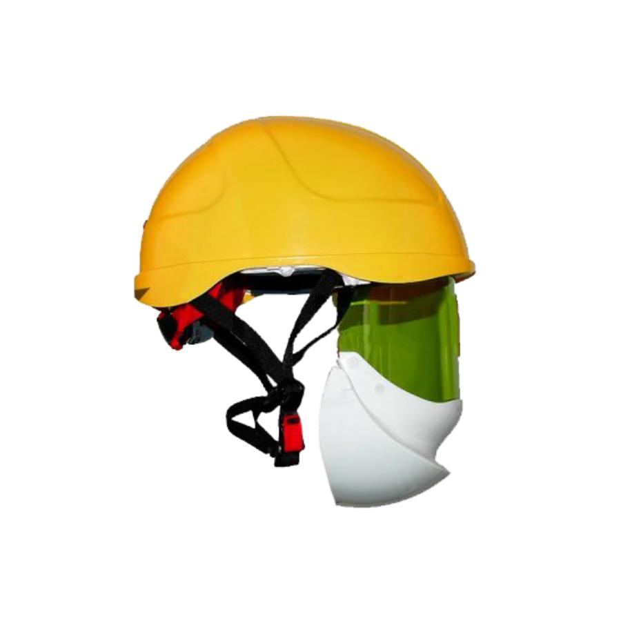 Capacete De Arco Elétrico Com Proteção Facial Secra 2 Amarelo