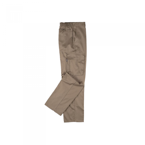 Fiber and Cotton Pants with 2 Side Pockets