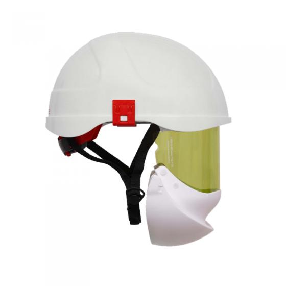 Capacete De Arco Elétrico Com Proteção Facial Secra 2 Branco