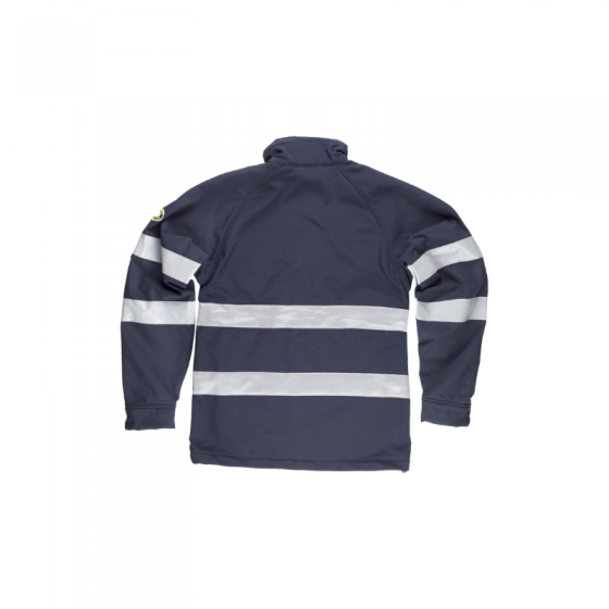 Workshell Jacket with 2 Reflective Strips on Chest + Sleeves