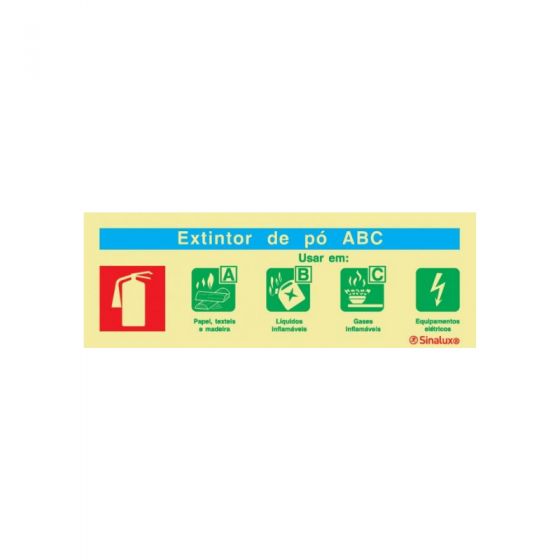Chemical Powder Fire Extinguishing Agent Sign