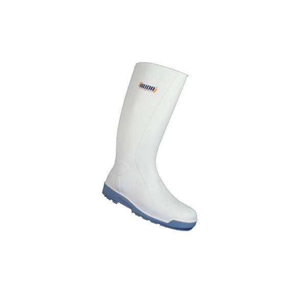 White PVC High Boots