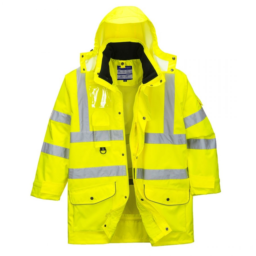 S427 - Hi-Vis 7-in-1 Traffic Jacket Yellow