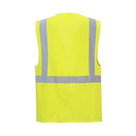 High Visibility Reflective Vest with Zip