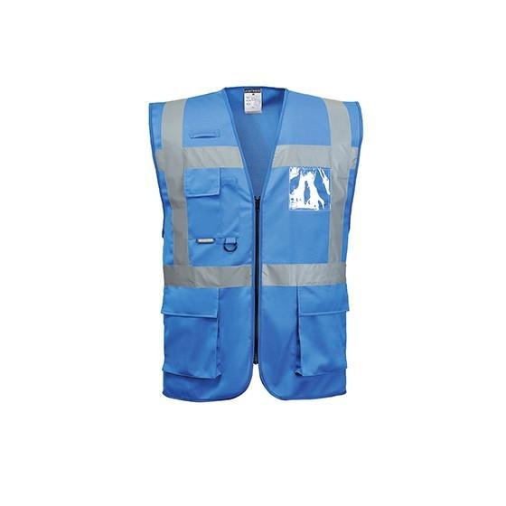 Multi Pockets Canvas Vest 2 Horizontal Strips