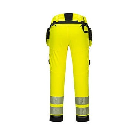 High visibility trousers with pocket and removable case