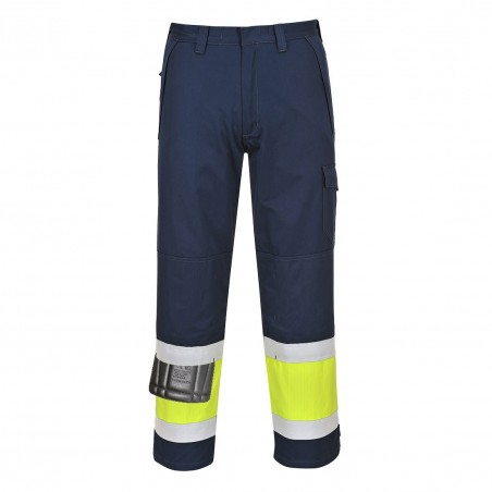 Hi-Vis Modaflame Trouser MV26 Yellow/Navy