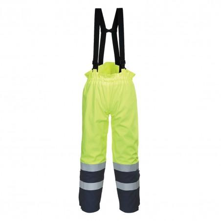 Bizflame Multi Arc Hi-Vis Trouser FR78 Yellow/Navy