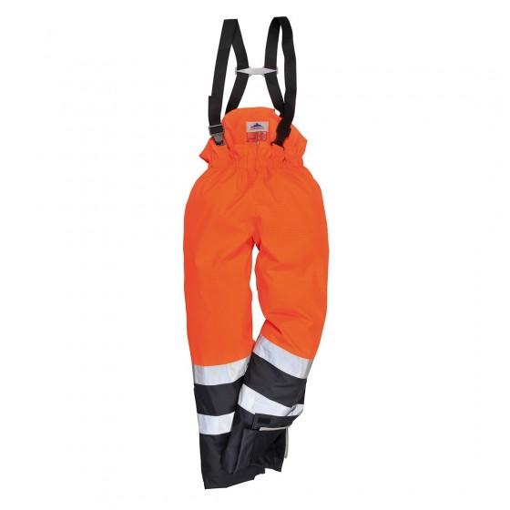 Bizflame Rain Hi-Vis Multi-Protection Trouser S782 Orange/Navy