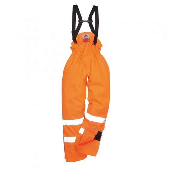 Bizflame Rain Lined- Hi-Vis Antistatic FR Trouser S781 Orange