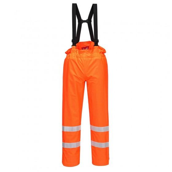Bizflame Rain Unlined - Hi-Vis Antistatic FR Trouser S780 Orange