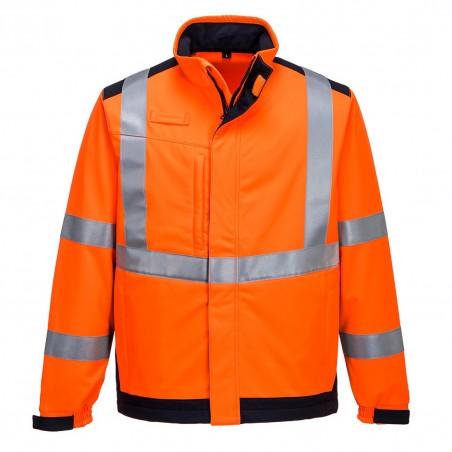 Modaflame Multi Norm Arc Softshell Jacket MV72 Orange/Navy