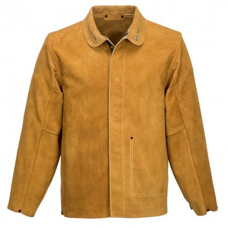 Leather Welding Jacket SW34 Tan