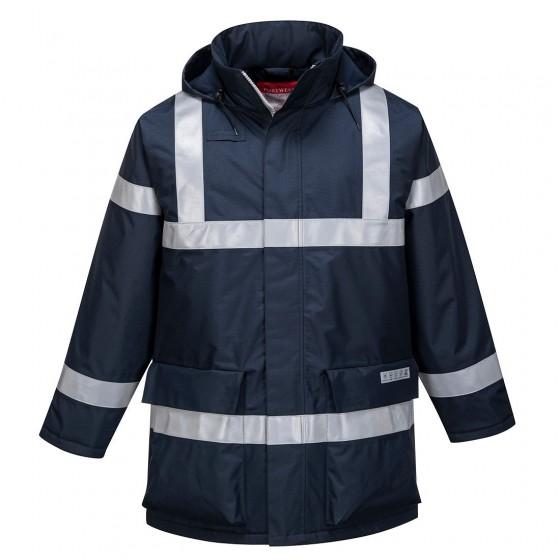Bizflame Rain Anti-Static FR Jacket S785 Navy