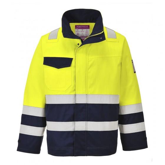 Hi-Vis Modaflame Jacket MV25 Yellow/Navy
