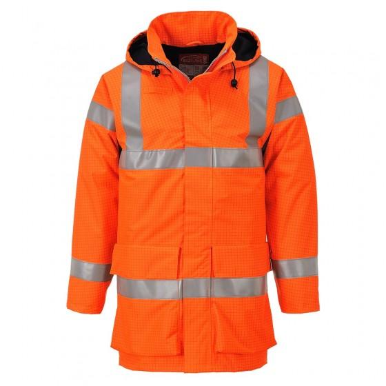 Bizflame Rain Hi-Vis Multi Lite Jacket S774 Orange