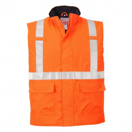 Bizflame Rain Hi-Vis Antistatic FR Bodywarmer S776 Orange