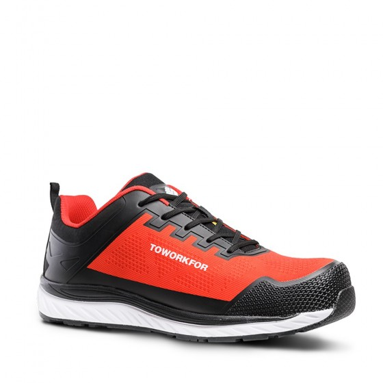 Red Safety Shoe ToWorkFor (SUPER SET RED)
