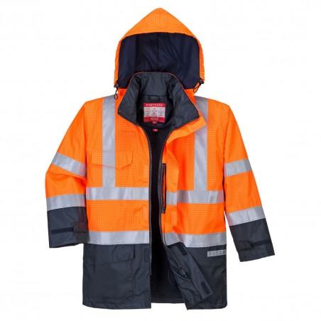 Bizflame Rain Hi-Vis Multi-Protection Jacket S779 Orange/Navy