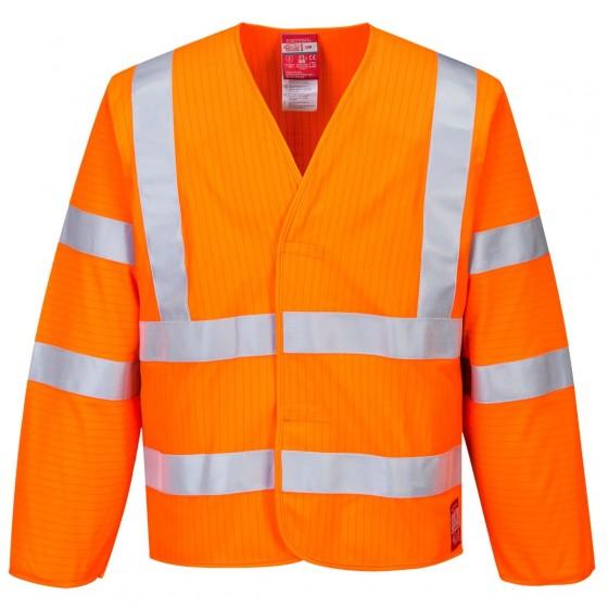 Hi-Vis Anti Static Jacket, Flame Resistant FR85