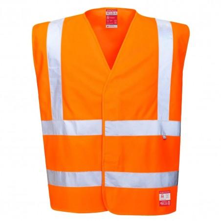Hi-Vis Anti Static Vest, Flame Resistant FR71 Orange