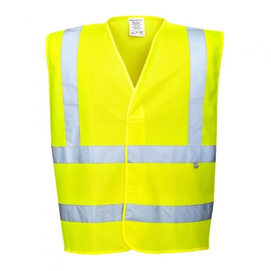 Hi-Vis Vest Flame Resistant FR70 Yellow