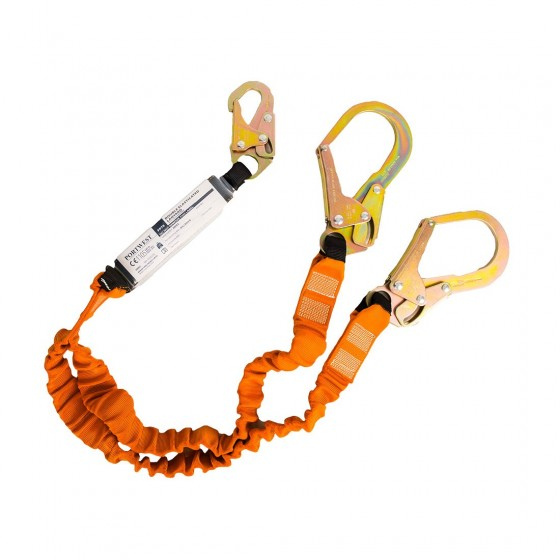 Double lanyard with shock absorber 140kg FP75