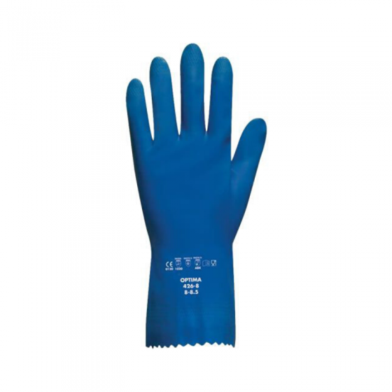 Luva Latex Optima Azul (Pack De 12)