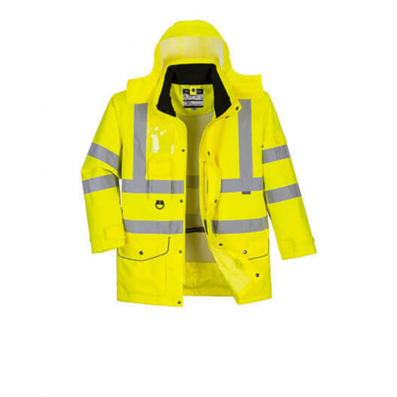 7-in-1 High Visibility Traffic Parka S427