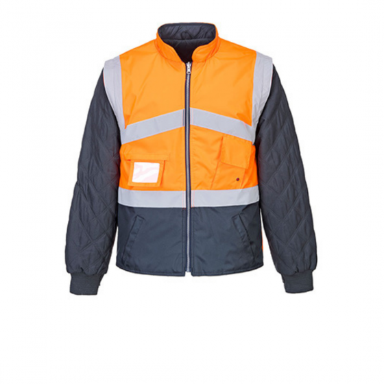 Two tone High Visibility Reversible Jacket S769