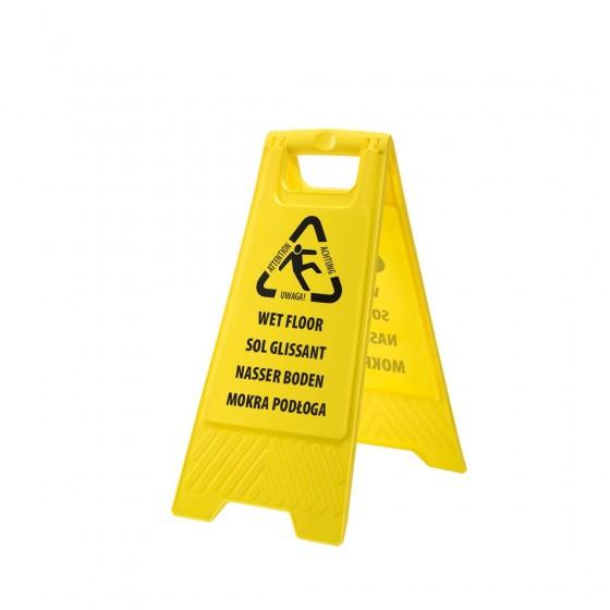 Euro wet floor warning sign HV21