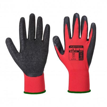 Latex Glove Flex GRIP A174 Red/Black