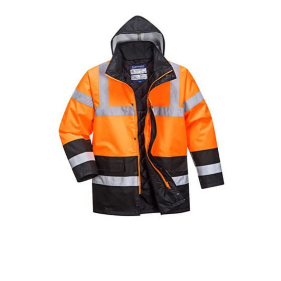 Two-tone High Visibility Traffic Parka S467