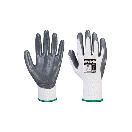 Nitrile Flex Grip Glove (Vending) - VA310 - White/Grey