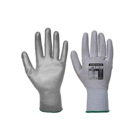 Vending Gloves with PU Palm VA120 Grey