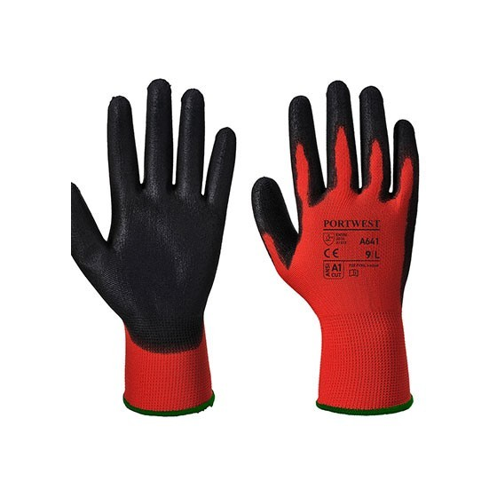 PU Protection Glove A641 Red/Black