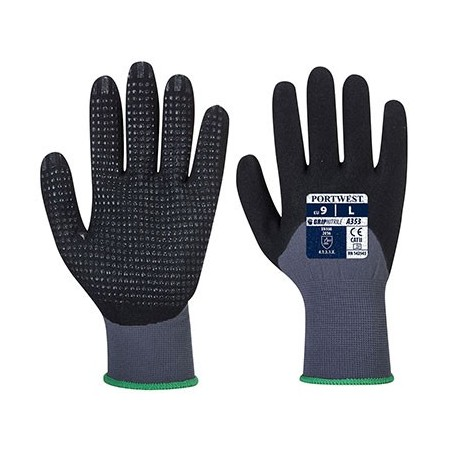DermiFlex Ultra Plus Protective Gloves A353 Grey/Black