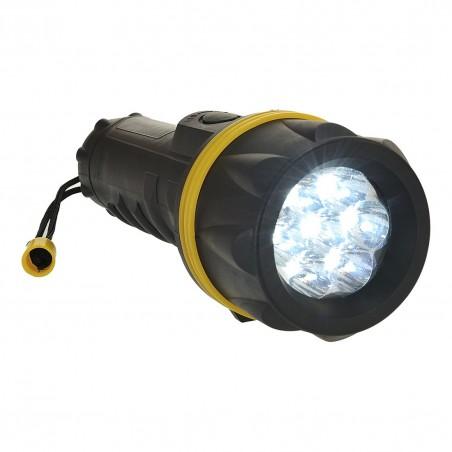 7 LED Rubber Flashlight PA60