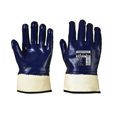 Nitrile Safety Glove Total Immersion A302 Navy