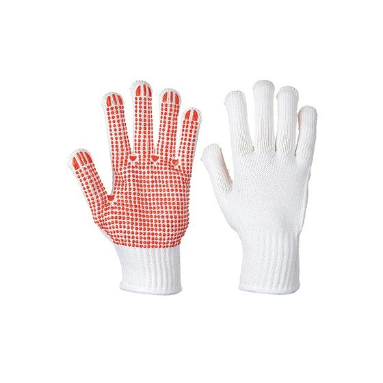 Polka Dot Heavy Glove A112 (1 pair Pack) White / Red