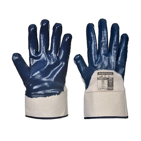 Nitrile Glove Safety Fist A301 Navy