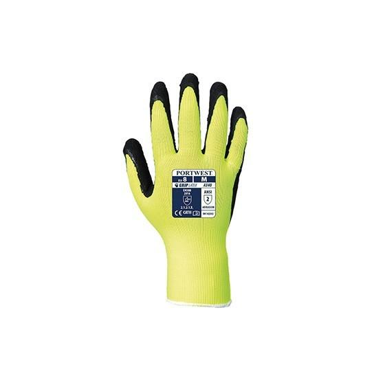 HiVis Grip Glove - Latex A340 Yellow
