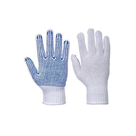 Gant classique à pois A111  Blanc / Bleu