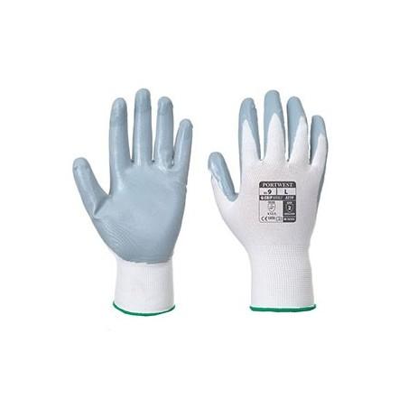 Luva Flexo Grip de Nitrilo (com bolsa expositora) A319 Cinzento/Branco