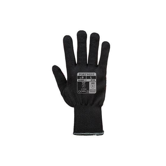 Polka Dot Nylon Glove A110 Black